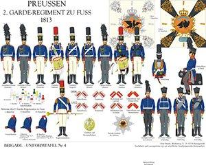 Tafel 4: Königreich Preußen: 2. Garde-Regiment zu Fuß 1813