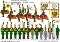 Tafel 303: Kaiserreich Österreich: Ulanen-Regiment Nr.4 Kaiser Franz 1813-1815