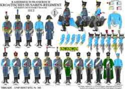 Tafel 339: Kaiserreich Frankreich: Kroatisches Husaren-Regiment 1813