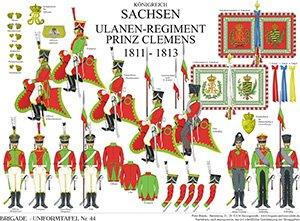 Tafel 44: Königreich Sachsen: Ulanen-Regiment Prinz Clemens 1811-1813