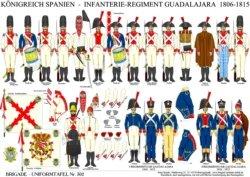 Tafel 302: Königreich Spanien: Infanterie-Regiment Guadalajara 1806-1815