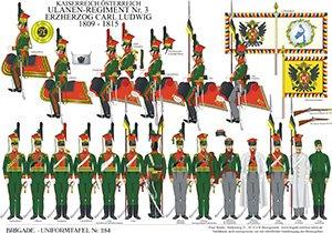 Tafel 284: Kaiserreich Österreich: Ulanen-Regiment Nr.3 Erzherzog Carl Ludwig 1809-1815
