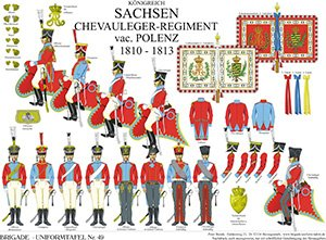 Tafel 49: Königreich Sachsen: Chevauleger-Regiment vac. v. Polenz 1810-1813