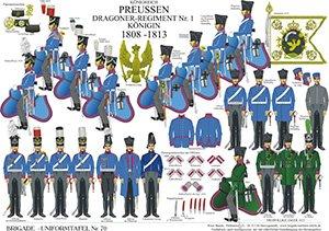 Tafel 70: Königreich Preußen: Dragoner-Regiment Nr.1 Königin 1808-1813