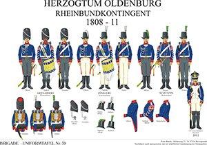 Tafel 39: Herzogtum Oldenburg: Rheinbund-Kontingent 1808-1811