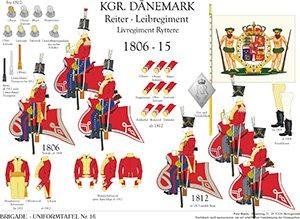 Tafel 16: Königreich Dänemark: Reiter-Leibregiment 1806-1815