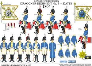 Tafel 106: Königreich Preußen: Dragoner-Regiment No.4 v. Katte 1806