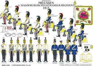 Tafel 68: Königreich Preußen: Magdeburgisches Kürassier-Regiment Nr.4 1815
