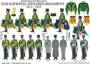 Tafel 280: Königreich Preußen: Elb-National-Husaren-Regiment 1813-1815