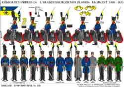 Tafel 340: Königreich Preussen: 3. Brandenburgisches Ulanen-Regiment 1809-1815