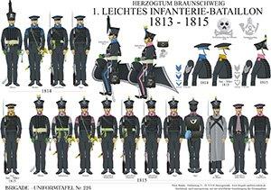 Tafel 226: Herzogtum Braunschweig: 1. Leichtes Infanterie-Bataillon 1813-1815