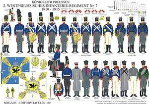 Tafel 152: Königreich Preußen: 2. Westpreußisches Infanterie-Regiment No.7 1810-1815