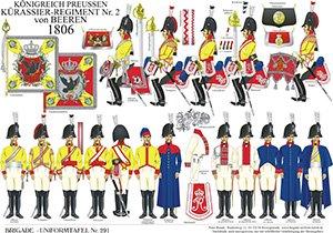 Tafel 291: Königreich Preußen: Kürassier-Regiment No.2 von Beeren 1806