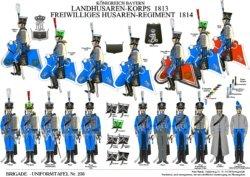 Tafel 236: Königreich Bayern: Landhusaren-Korps 1813 / National-Husaren-Regiment 1814