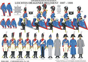 Tafel 143: Großherzogtum Baden: Leichtes Dragoner-Regiment 1807-1808