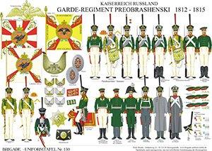 Tafel 150: Kaiserreich Russland: Garde-Infanterie-Regiment Preobrashenski 1812-1815