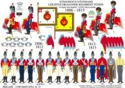 Tafel 27: Königreich Dänemark: Leichtes Dragoner-Regiment Fünen 1806-1815