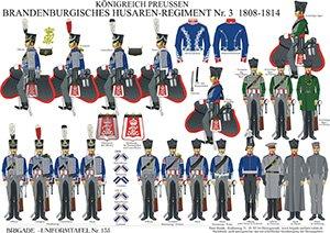 Tafel 135: Königreich Preußen: Husaren-Regiment No.3 (1. Brandenburgisches) 1808-1813