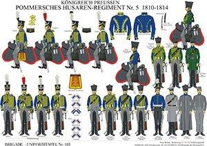 Tafel 163: Königreich Preußen: Husaren-Regiment No.5 (Pommersches) 1810-1814