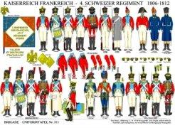 Tafel 311: Kaiserreich Frankreich: 4. Schweizer Regiment 1806-1812