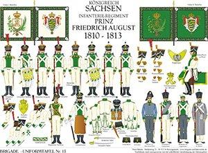 Tafel 13: Königreich Sachsen: Infanterie-Regiment Prinz Friedrich August 1810-1813