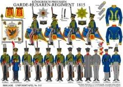Tafel 315: Königreich Preußen: Garde-Husaren-Regiment 1815