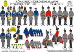 Tafel 331: Königreich der Niederlande: Fuss-Artillerie und Train 1815