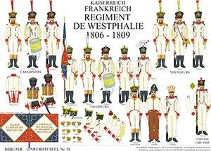 Tafel 52: Kaiserreich Frankreich: Régiment de Westphalie 1806-1809