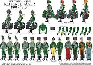 Tafel 112: Herzogtum Nassau: Reitende Jäger 1804-1813