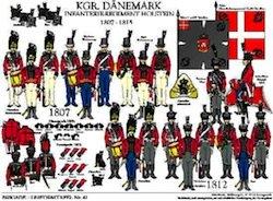 Tafel 41: Königreich Dänemark: Infanterie-Regiment Holstein 1807-1815