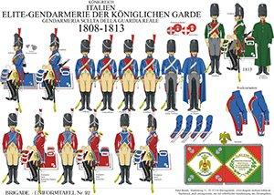 Tafel 92: Königreich Italien: Elite-Gendarmerie der königlichen Garde 1808-1813