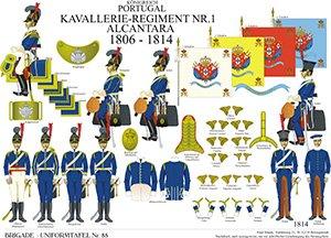 Tafel 88: Königreich Portugal: Kavallerie-Regiment No.1 Alcantara 1806-1814