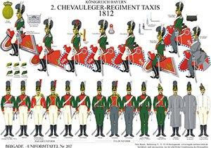 Tafel 207: Königreich Bayern: 2. Chevauleger-Regiment Taxis 1812