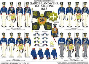 Tafel 122: Königreich Preußen: Garde-Landwehr-Bataillone 1815