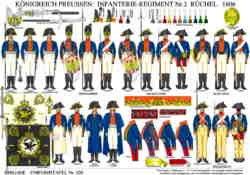 Tafel 330: Königreich Preussen: Infanterie-Regiment Nr.2 Rüchel 1806
