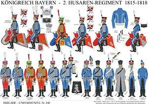 Tafel 242: Königreich Bayern: 2. Husaren-Regiment 1815-1818