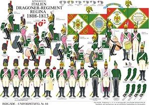 Tafel 84: Königreich Italien: Dragoner-Regiment Regina 1808-1813
