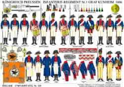Tafel 329: Königreich Preußen: Infanterie-Regiment Nr.1 Graf Kunheim 1806