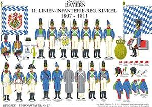 Tafel 97: Königreich Bayern: 11. Linien-Infanterie-Regiment 1807-1811