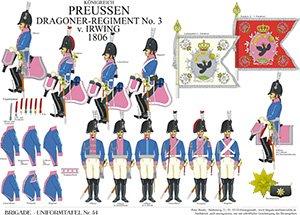 Tafel 54: Königreich Preußen: Dragoner-Regiment No.3 v. Irwing 1806