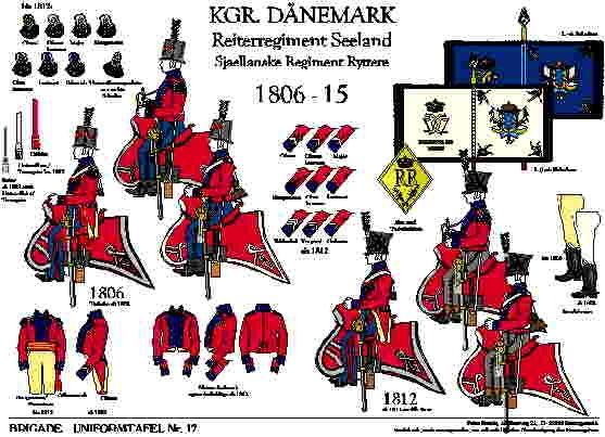 Tafel 17: Königreich Dänemark: Reiter-Regiment Seeland 1806-1815