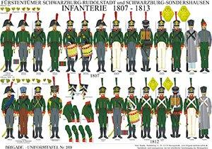 Tafel 269: Fürstentümer Schwarzburg: Infanterie 1807-1813