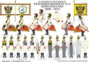 Tafel 217: Kaiserreich Österreich: Kürassier-Regiment No.8 Hohenzollern 1809-1815