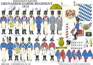 Tafel 123: Königreich Bayern: Grenadier-Garde-Regiment 1814