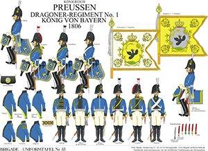 Tafel 53: Königreich Preußen: Dragoner-Regiment No.1 König von Bayern 1806