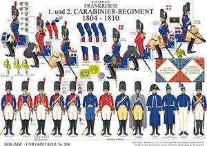 Tafel 208: Kaiserreich Frankreich: 1. und 2. Carabinier-Regiment 1804-1810