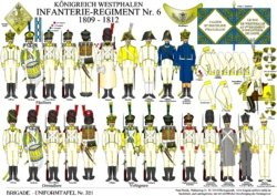Tafel 321: Königreich Westphalen: Infanterie-Regiment Nr. 6 1809-1812