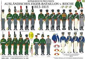 Tafel 286: Königreich Preußen: Ausländisches Jäger-Bataillon von Reiche 1813-1815