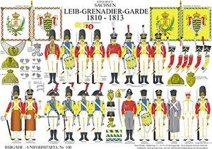 Tafel 100: Königreich Sachsen: Leib-Grenadier-Garde 1810-1813