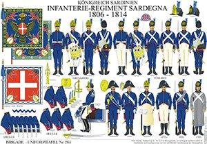 Tafel 265: Königreich Sardinien: Infanterie-Regiment Sardegna 1806-1814